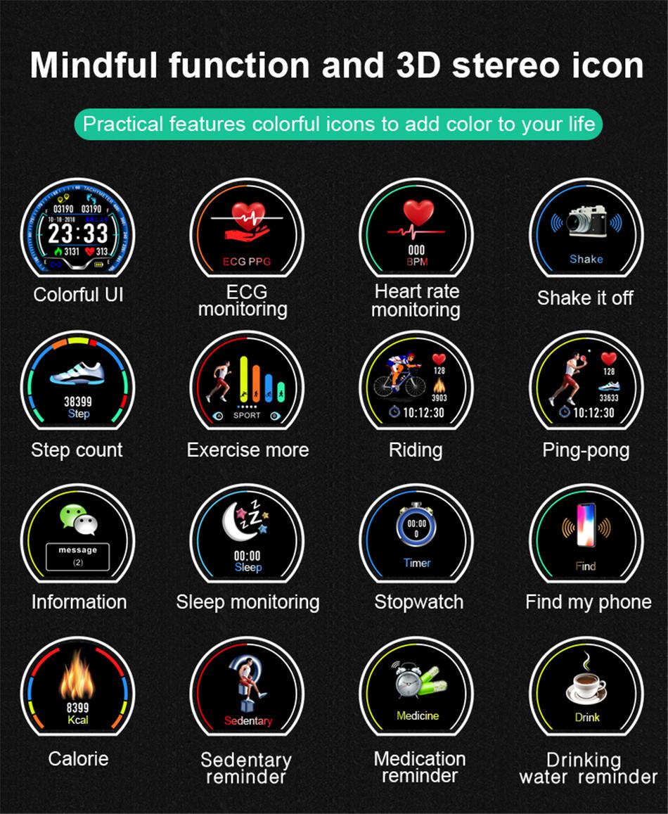 N58 Steel Band Smart Watch ECG ECG+PPG Sports Waterproof Bracelet HRV Report Blood Pressure Heart Rate Test  9