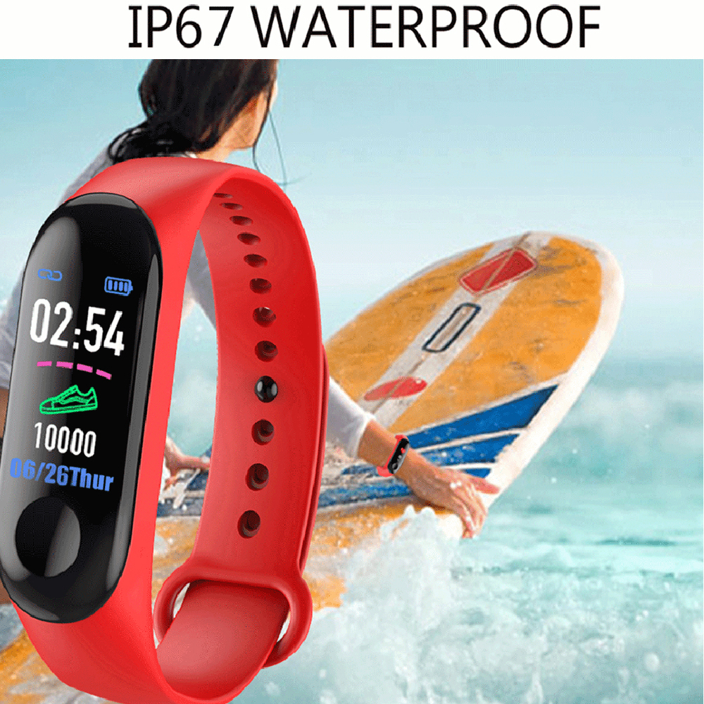 M3 New Sports Pedometer Heart Rate And Blood Pressure Monitoring Personalized WeChat Sports Smart Bracelet 4