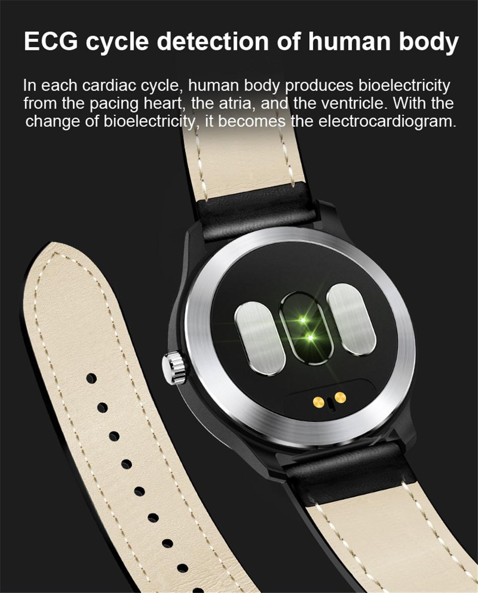 N58 Steel Band Smart Watch ECG ECG+PPG Sports Waterproof Bracelet HRV Report Blood Pressure Heart Rate Test  10