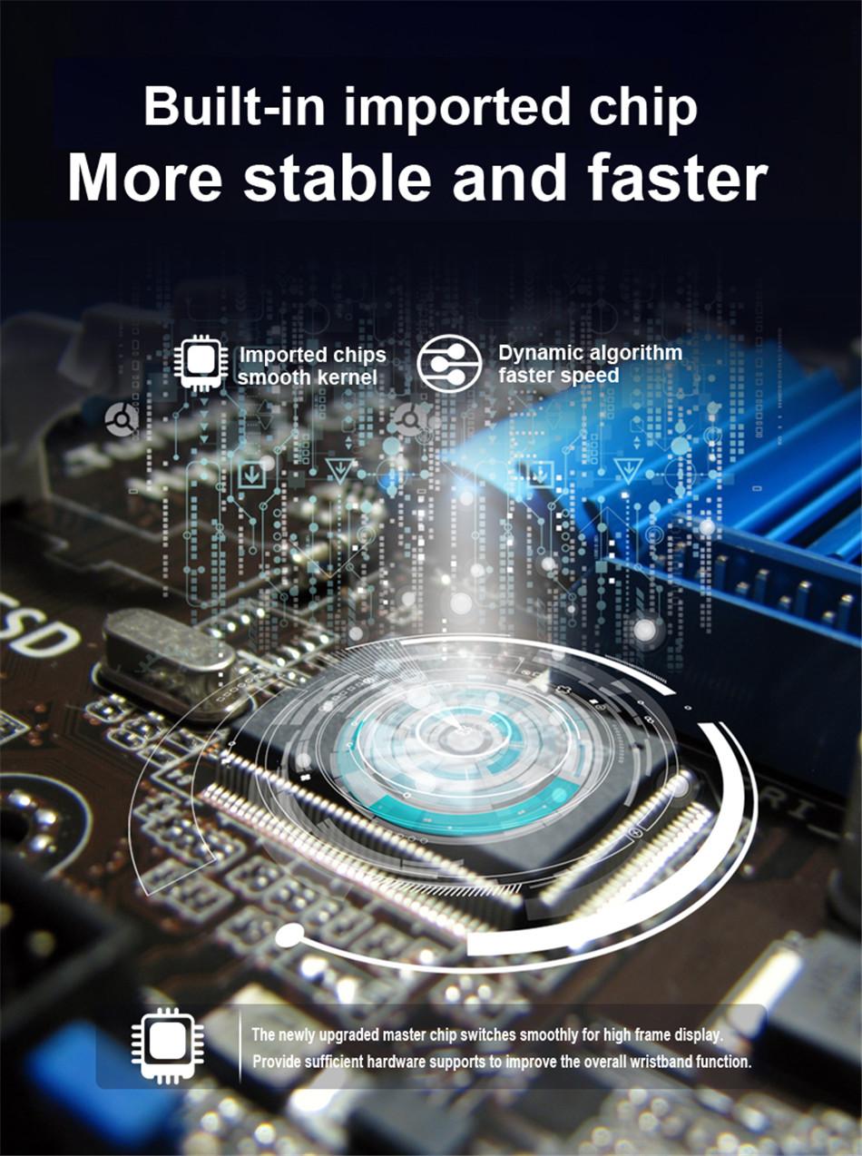 N58 Steel Band Smart Watch ECG ECG+PPG Sports Waterproof Bracelet HRV Report Blood Pressure Heart Rate Test  6