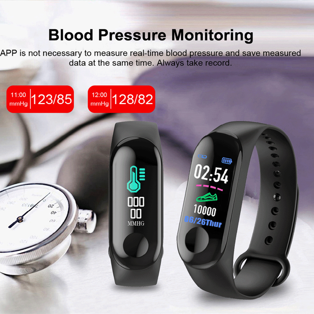 M3 New Sports Pedometer Heart Rate And Blood Pressure Monitoring Personalized WeChat Sports Smart Bracelet 3