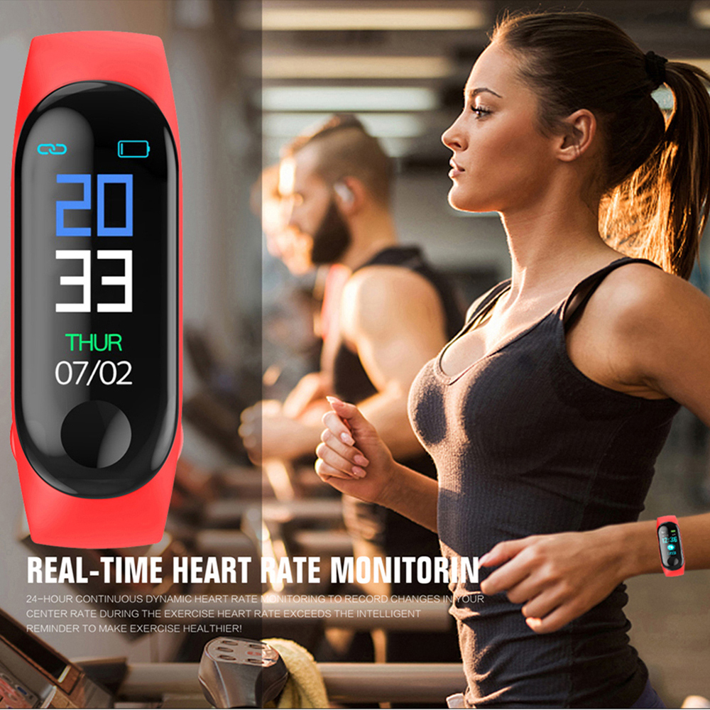 M3 New Sports Pedometer Heart Rate And Blood Pressure Monitoring Personalized WeChat Sports Smart Bracelet 6