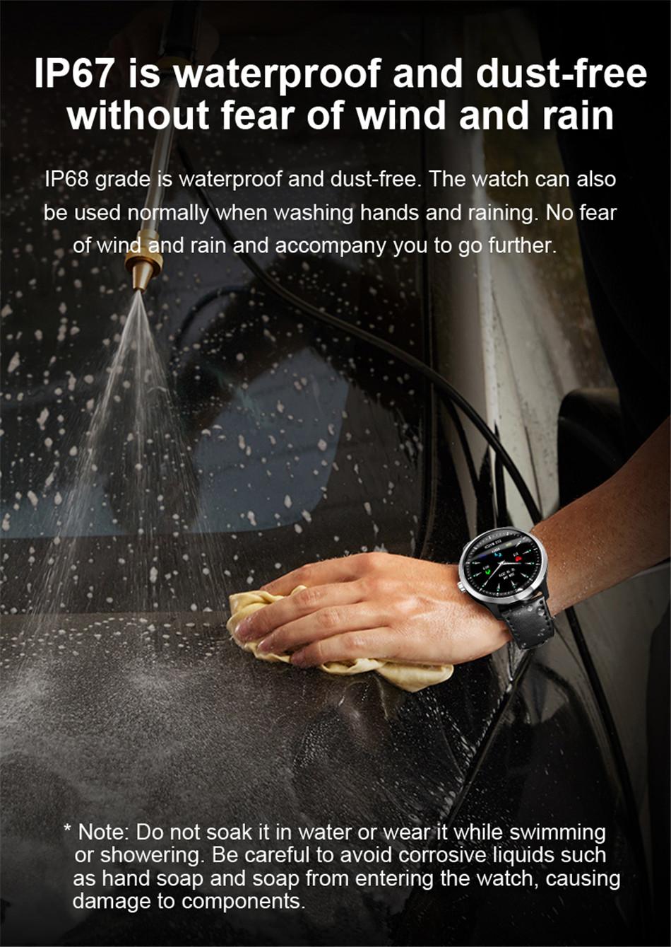 N58 Steel Band Smart Watch ECG ECG+PPG Sports Waterproof Bracelet HRV Report Blood Pressure Heart Rate Test  1