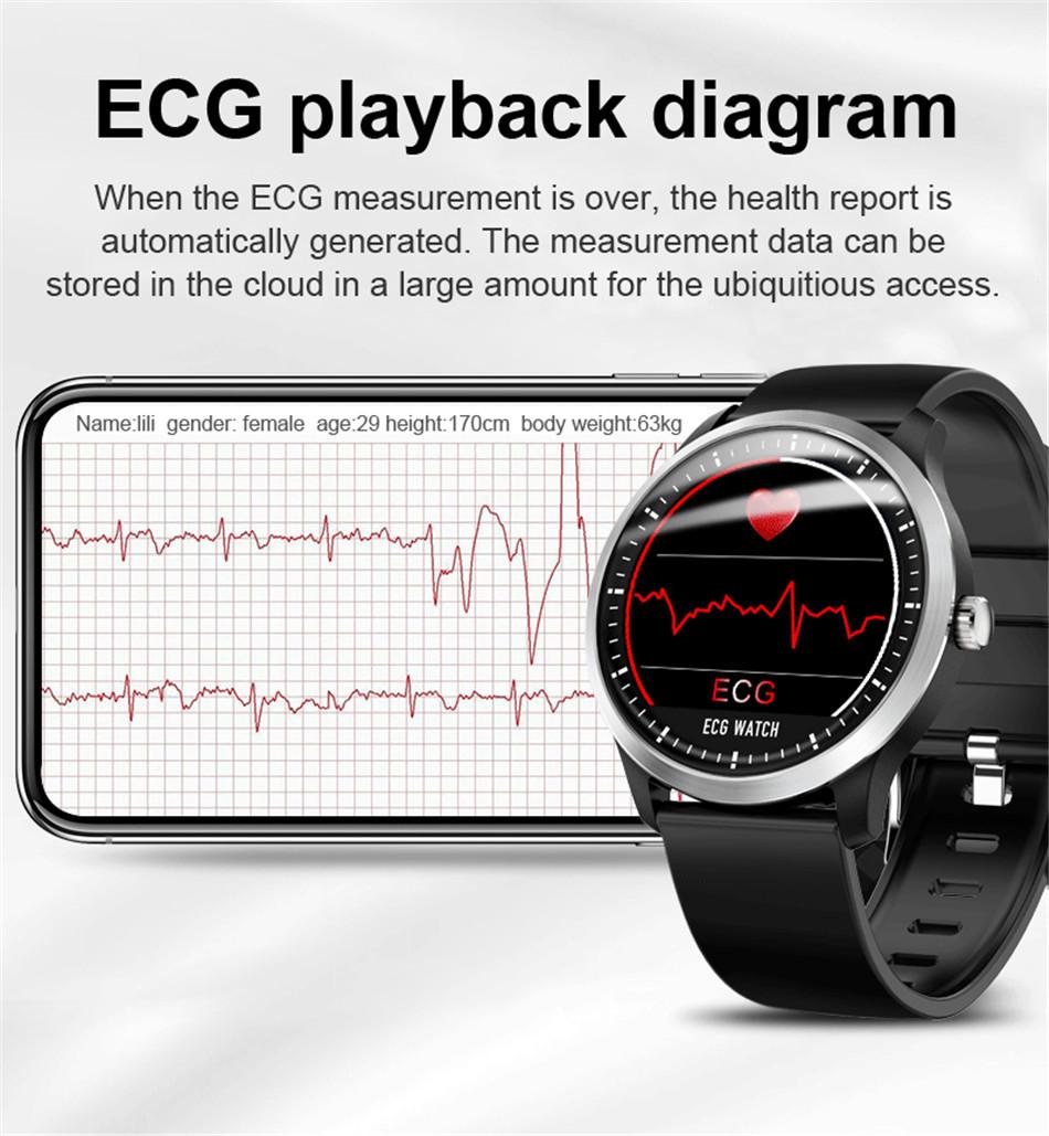 N58 Steel Band Smart Watch ECG ECG+PPG Sports Waterproof Bracelet HRV Report Blood Pressure Heart Rate Test  2