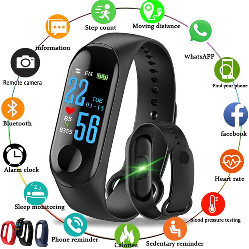 M3 New Sports Pedometer Heart Rate And Blood Pressure Monitoring Personalized WeChat Sports Smart Bracelet 1