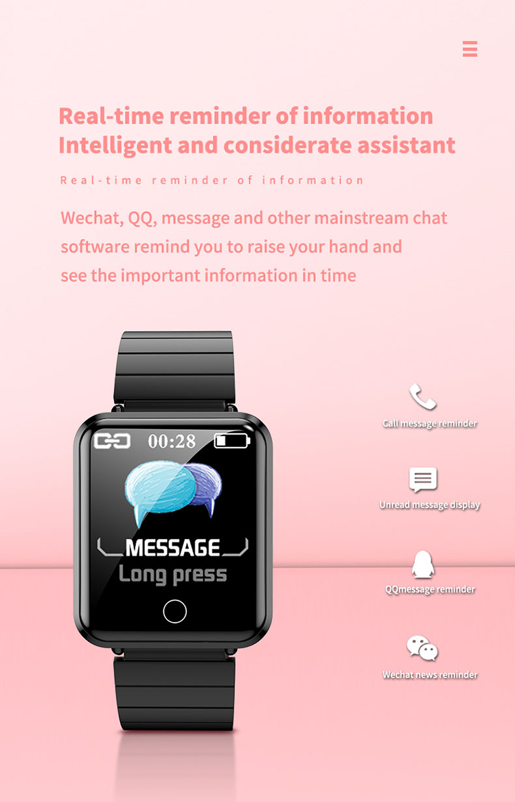 V6 Body Temperature Smart Bracelet Heart Rate Blood Pressure Oximeter Step Waterproof Sports Bracelet 5