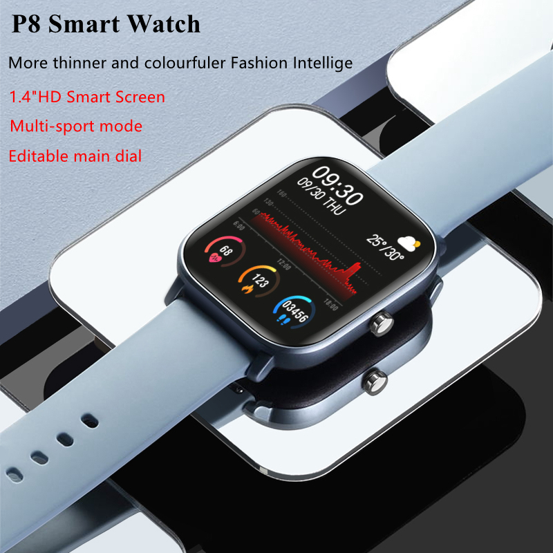 2020 New P8 Smart Watch 1.4 Inch High Definition Full Touch Screen Heart Rate And Blood Pressure Monitoring Bracelet 0