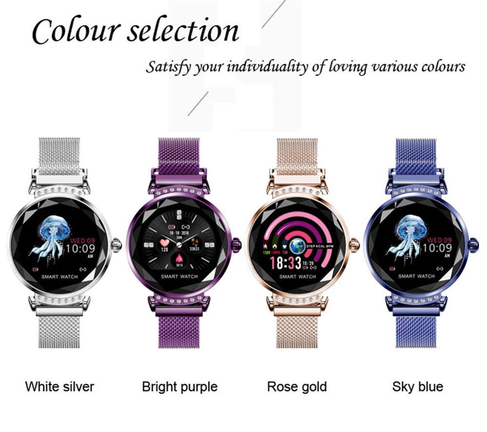 H2 Female Sports Mode Smart Bracelet 1.04 Large Screen Heart Rate and Blood Pressure Bluetooth Step Watch 1