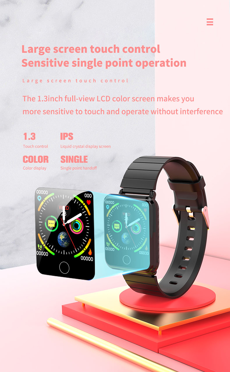 V6 Body Temperature Smart Bracelet Heart Rate Blood Pressure Oximeter Step Waterproof Sports Bracelet 2