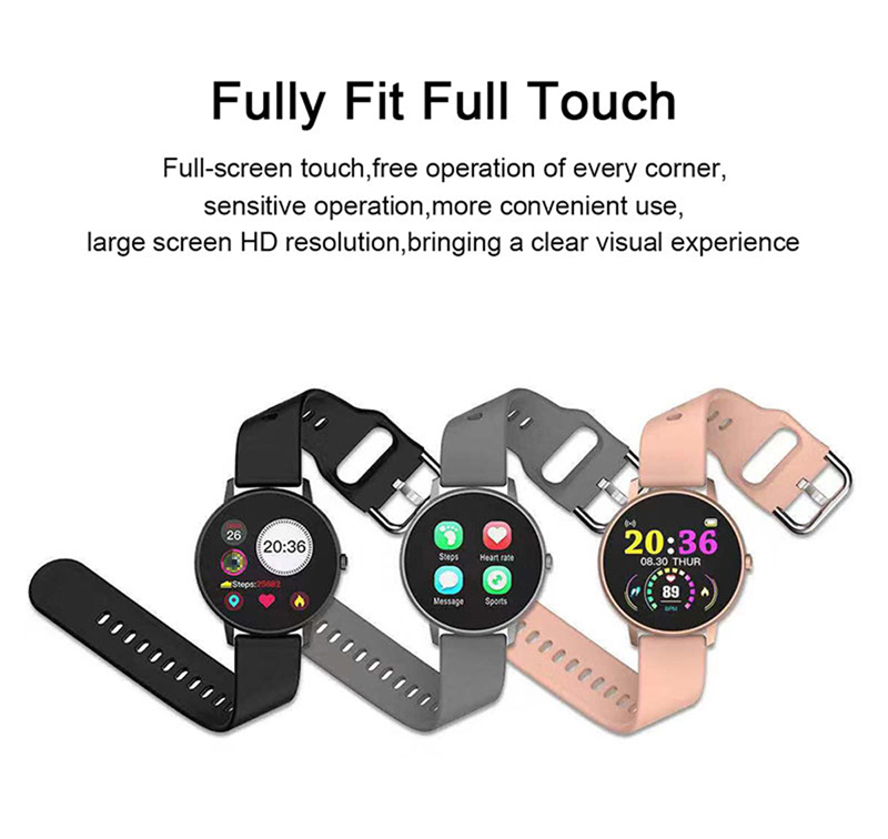P8 Smart Bracelet  Heart Rate Blood Pressure Blood Oxygen Sleep Monitoring Multi-sports Reminder Full Screen Touch IP67 Waterproof Bracelet 5