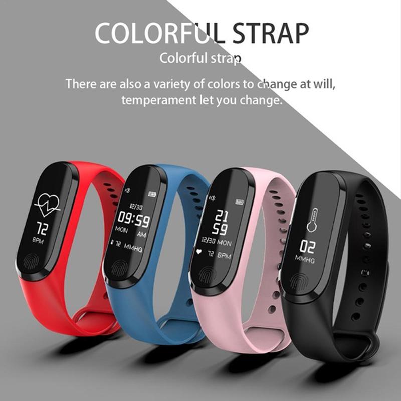 Smart Bracelet Y13/M3 Color Screen Pedometer Heart Rate Blood Pressure Blood Oxygen Sleep Monitoring Waterproof Smart Bracelet 2