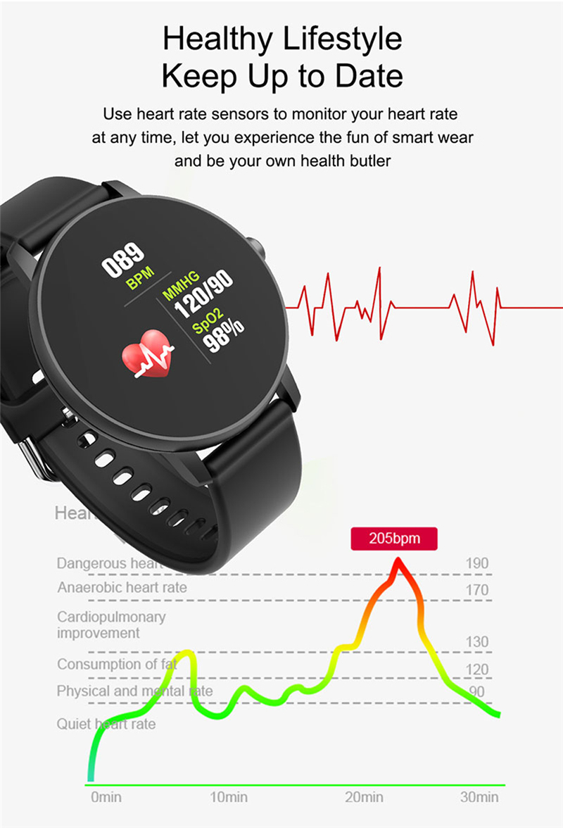 P8 Smart Bracelet  Heart Rate Blood Pressure Blood Oxygen Sleep Monitoring Multi-sports Reminder Full Screen Touch IP67 Waterproof Bracelet 0