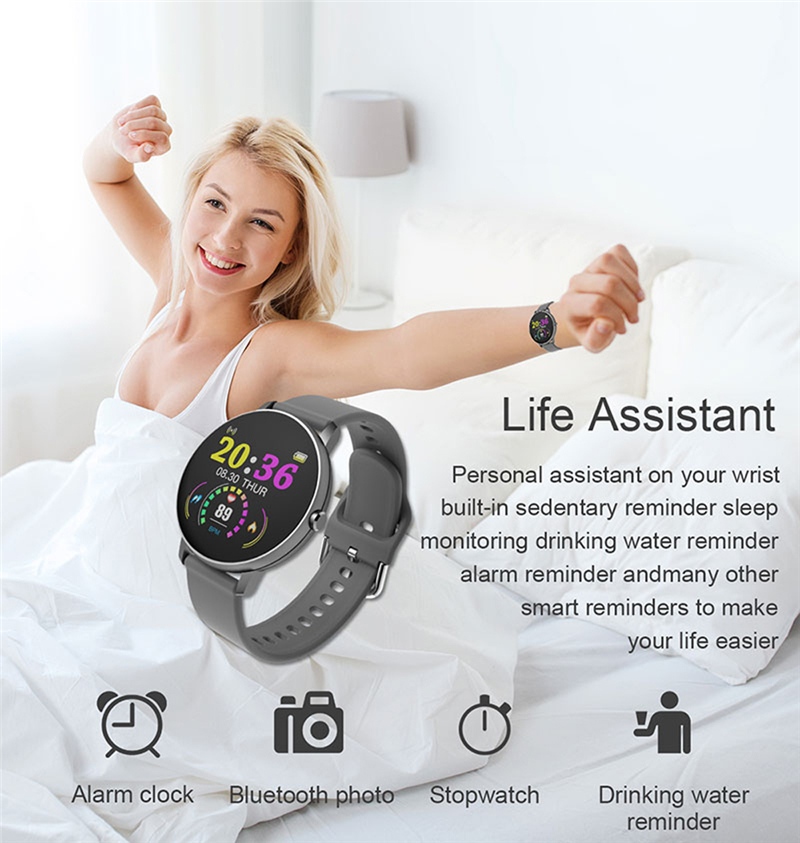 P8 Smart Bracelet  Heart Rate Blood Pressure Blood Oxygen Sleep Monitoring Multi-sports Reminder Full Screen Touch IP67 Waterproof Bracelet 3