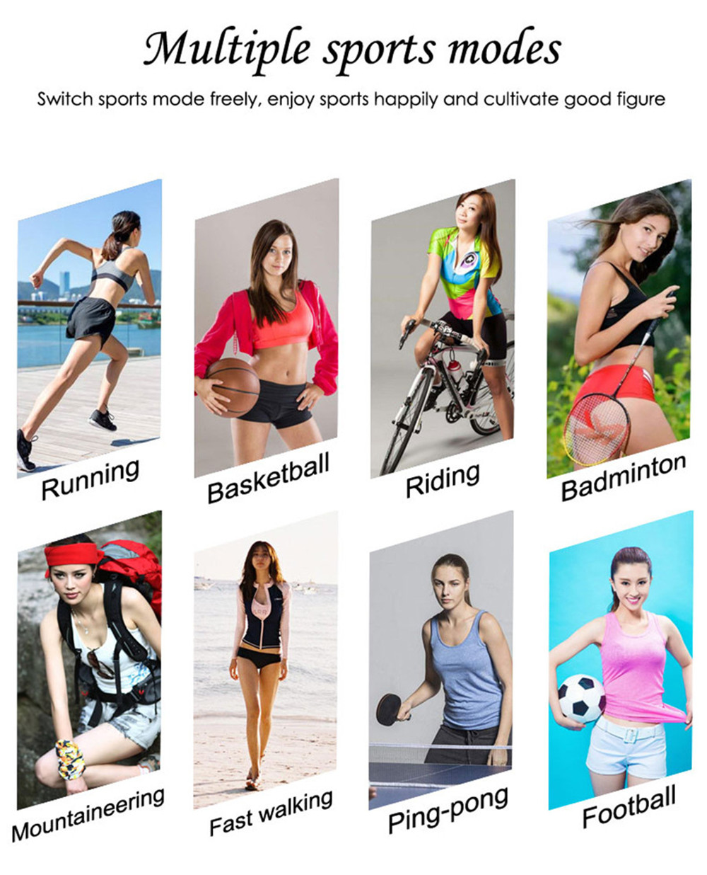 H2 Female Sports Mode Smart Bracelet 1.04 Large Screen Heart Rate and Blood Pressure Bluetooth Step Watch 4