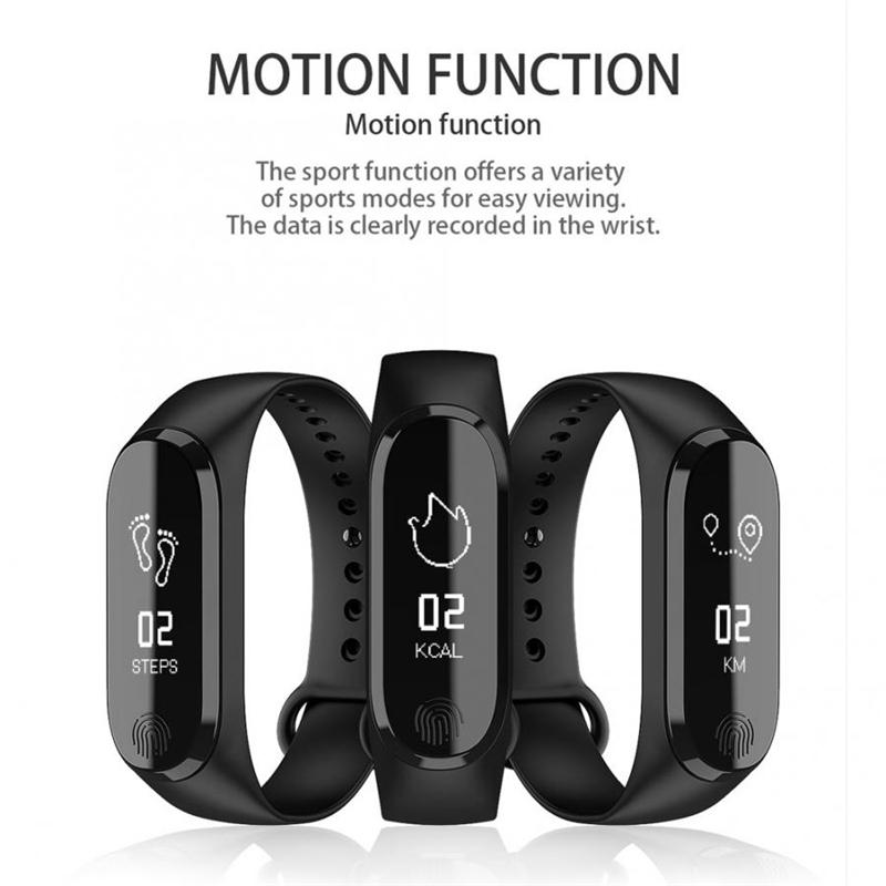 Smart Bracelet Y13/M3 Color Screen Pedometer Heart Rate Blood Pressure Blood Oxygen Sleep Monitoring Waterproof Smart Bracelet 0