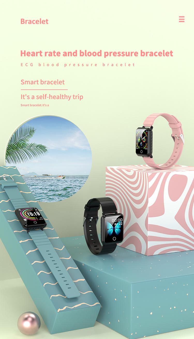 V6 Body Temperature Smart Bracelet Heart Rate Blood Pressure Oximeter Step Waterproof Sports Bracelet 0