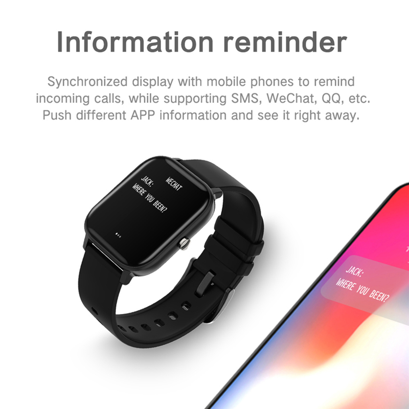 2020 New P8 Smart Watch 1.4 Inch High Definition Full Touch Screen Heart Rate And Blood Pressure Monitoring Bracelet 2
