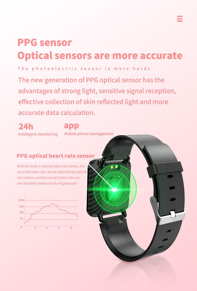 V6 Body Temperature Smart Bracelet Heart Rate Blood Pressure Oximeter Step Waterproof Sports Bracelet 6