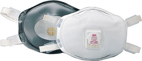 3M 8293 P100 Disposable Particulate Respirator with Valve 0