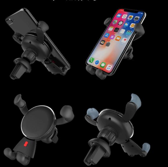 Creative Car Phone Holder Metal Gravity Sensor Car Holder Car Navigation Mobile Phone Universal Holder 3