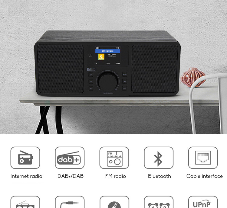 Ocean Digital Haixian Internet Radio (with remote control) WR-230S Dual Speakers Multi-function Stereo Amplifier 1