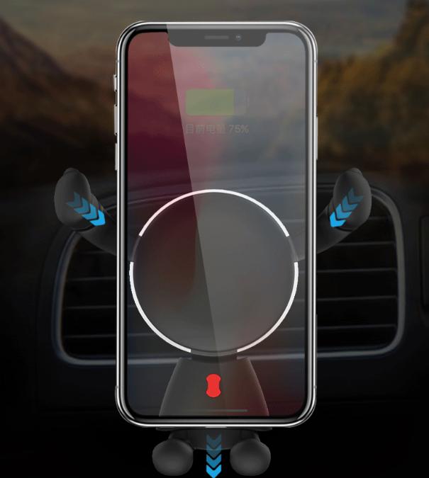 Creative Car Phone Holder Metal Gravity Sensor Car Holder Car Navigation Mobile Phone Universal Holder 1