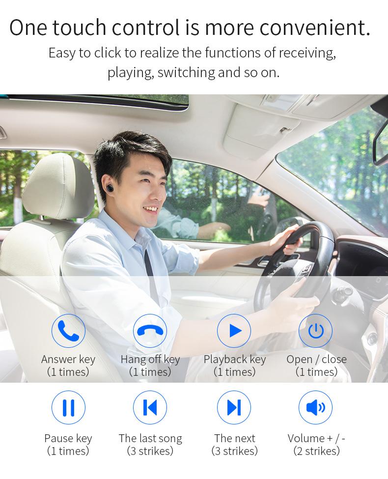 New Touch K12 Wireless Binaural 5.0 Sports Mini In-ear Noise Reduction Bluetooth Headset 9