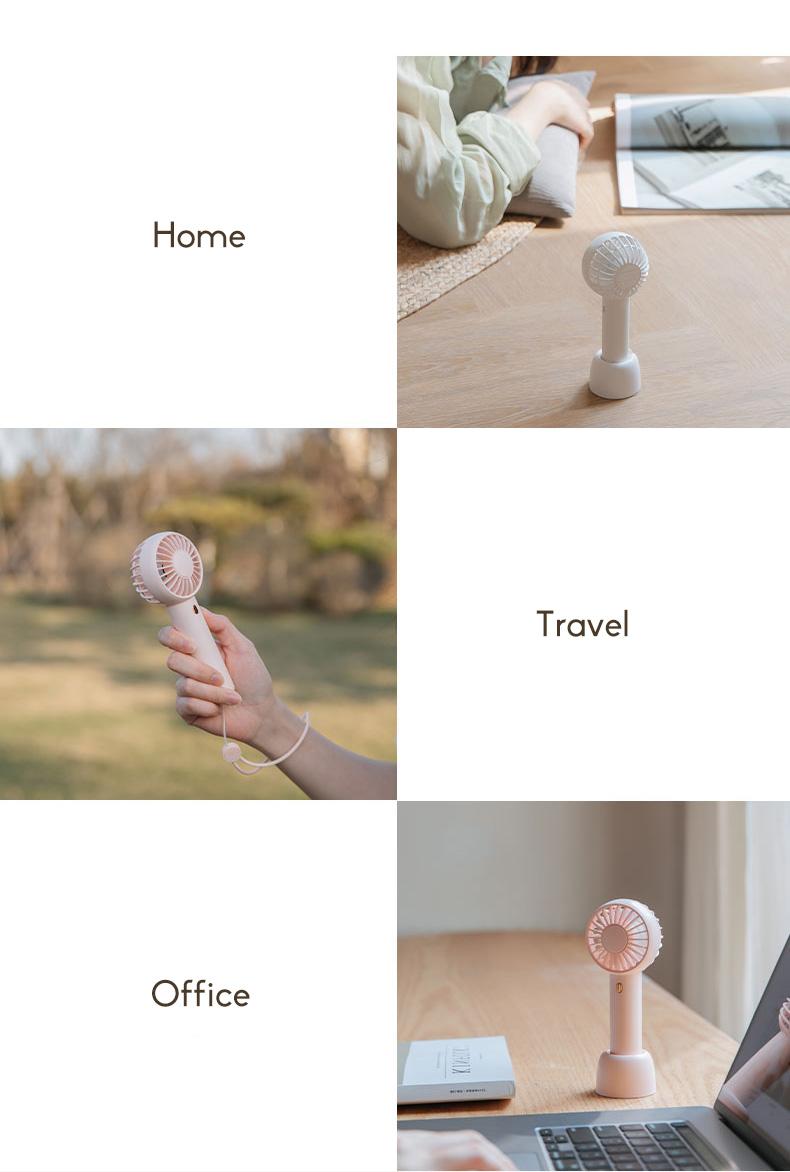 2020 In Style Portable Mini Fan Rechargeable Silent Student Dormitory Desktop Bed Fan 9