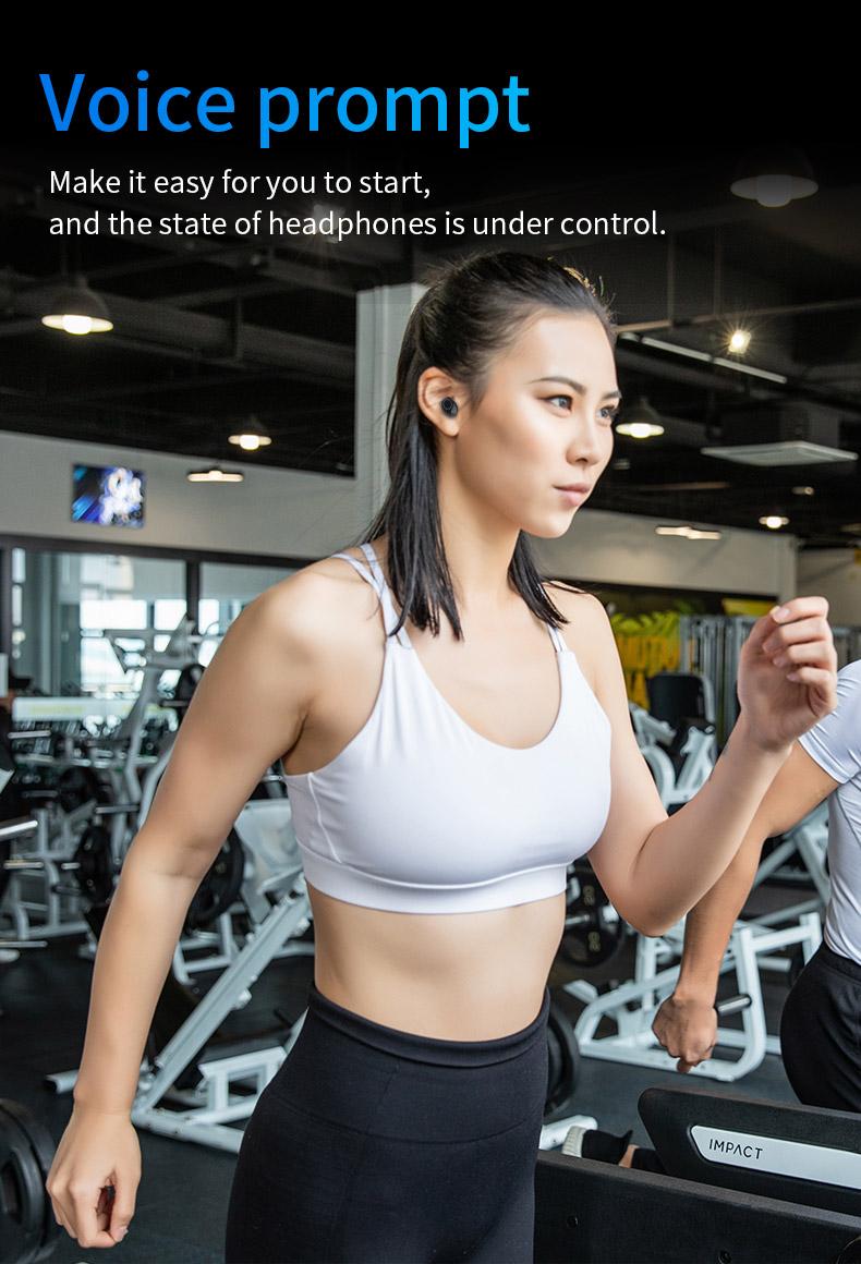 2020 New 5.0 Waterproof Bluetooth Headset TWS Wireless Automatic Power-on Dual Call Tws Headset 11