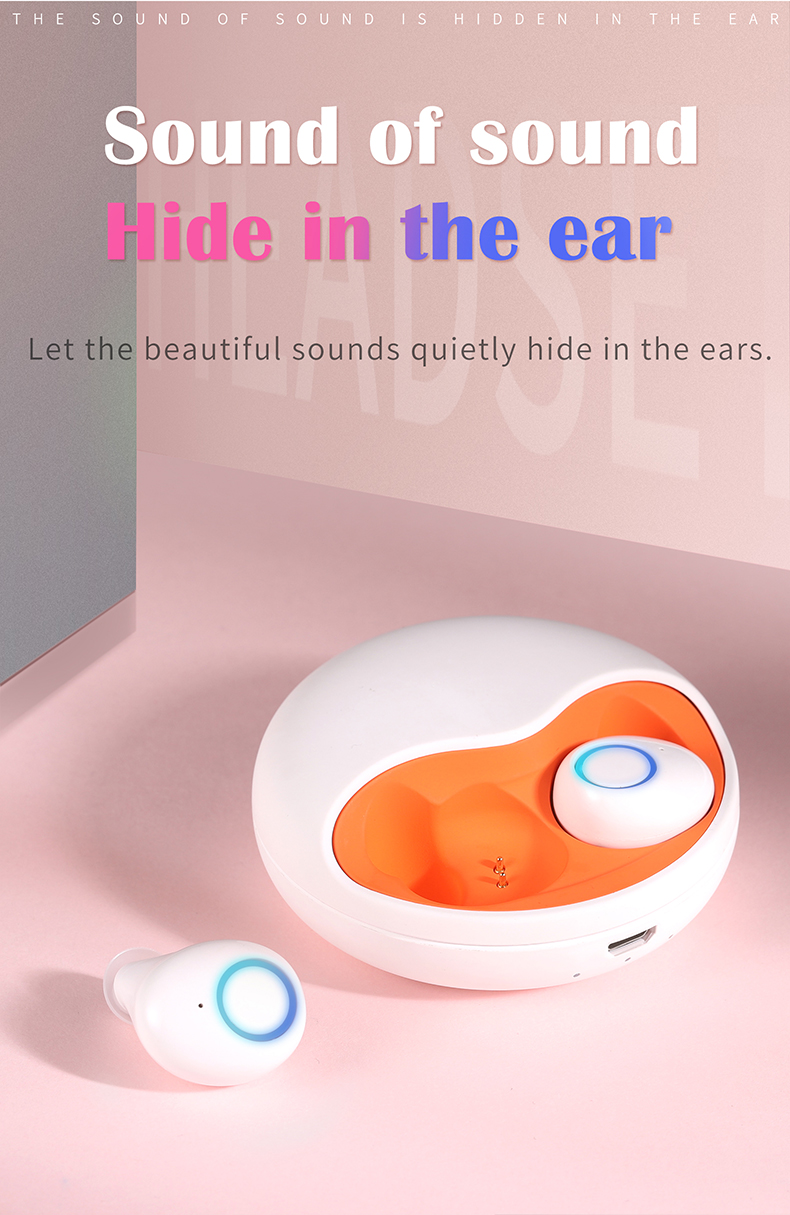 TWS-K10 Binaural Wireless Bluetooth Headset V5.0 Mini In-ear Noise Canceling Sports Headset 1
