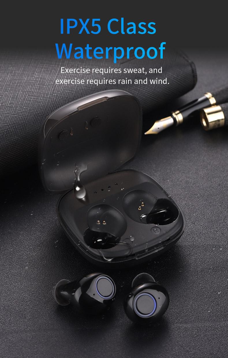 2020 New 5.0 Waterproof Bluetooth Headset TWS Wireless Automatic Power-on Dual Call Tws Headset 8