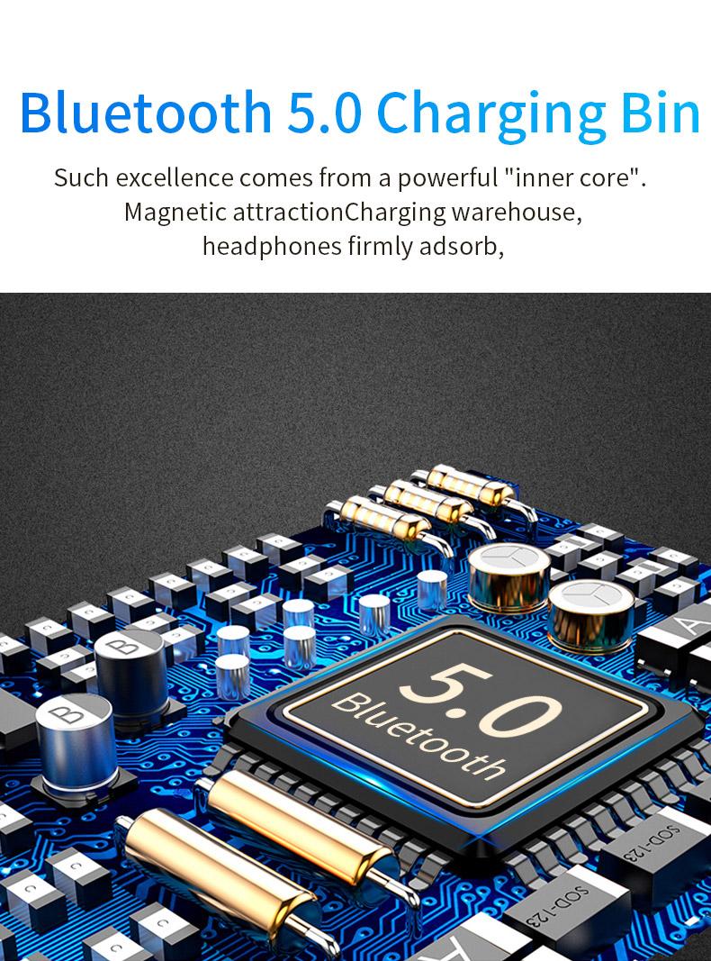 2020 New 5.0 Waterproof Bluetooth Headset TWS Wireless Automatic Power-on Dual Call Tws Headset 1