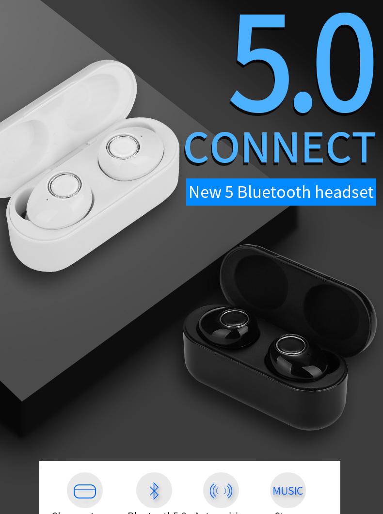 New Touch K12 Wireless Binaural 5.0 Sports Mini In-ear Noise Reduction Bluetooth Headset 0