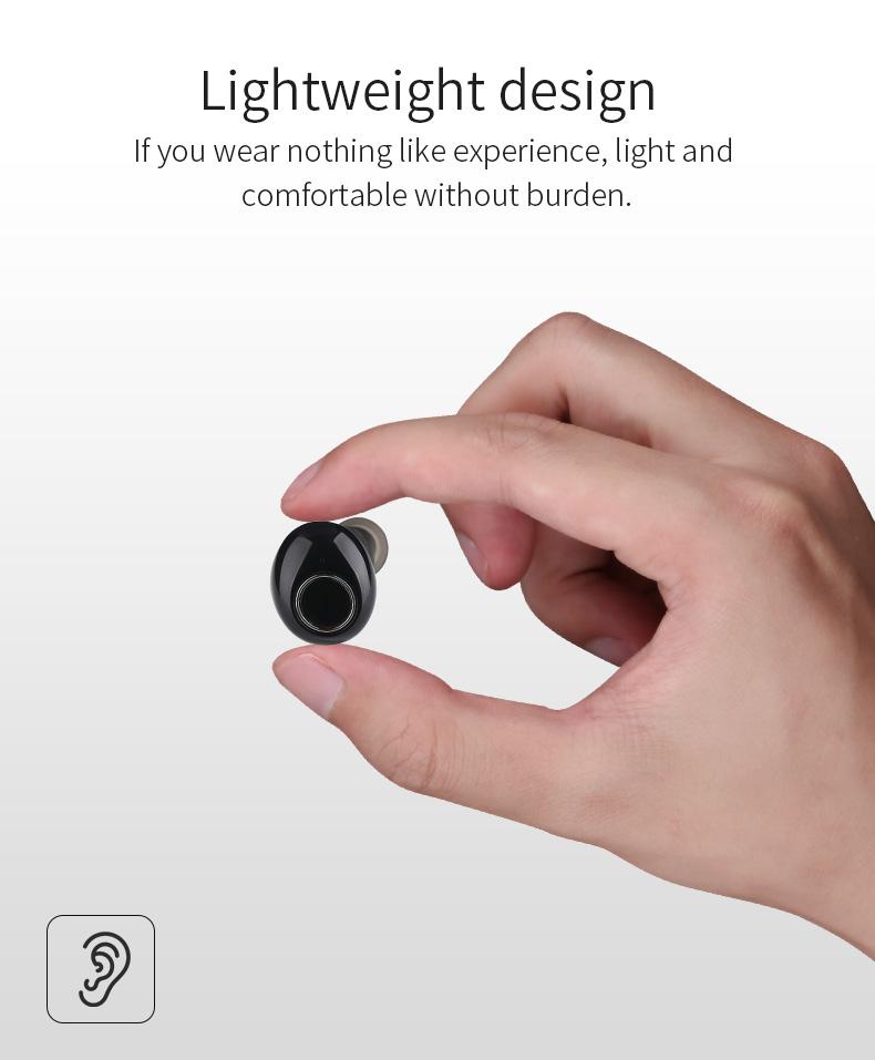 New Touch K12 Wireless Binaural 5.0 Sports Mini In-ear Noise Reduction Bluetooth Headset 5