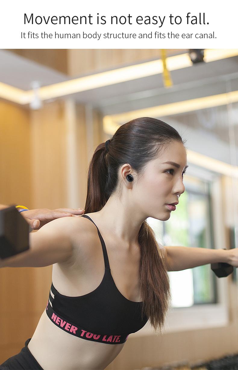New Touch K12 Wireless Binaural 5.0 Sports Mini In-ear Noise Reduction Bluetooth Headset 4