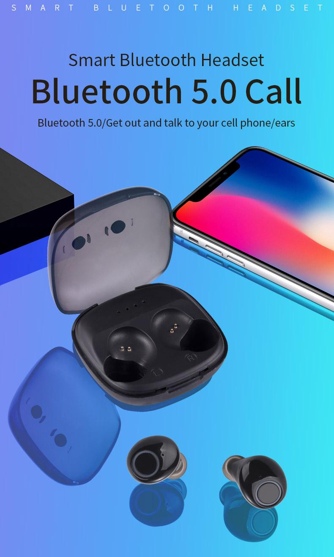 2020 New 5.0 Waterproof Bluetooth Headset TWS Wireless Automatic Power-on Dual Call Tws Headset 0