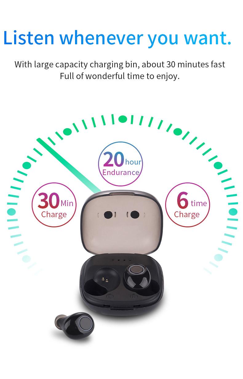 2020 New 5.0 Waterproof Bluetooth Headset TWS Wireless Automatic Power-on Dual Call Tws Headset 10