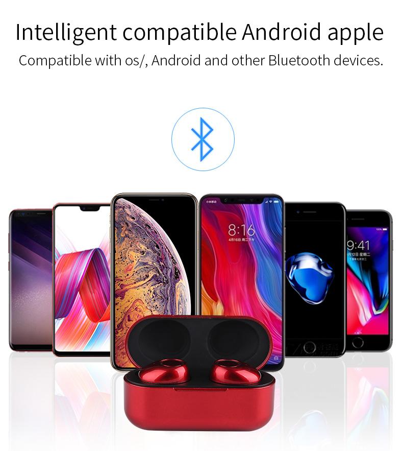 New Touch K12 Wireless Binaural 5.0 Sports Mini In-ear Noise Reduction Bluetooth Headset 18