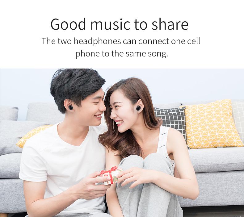 New Touch K12 Wireless Binaural 5.0 Sports Mini In-ear Noise Reduction Bluetooth Headset 8