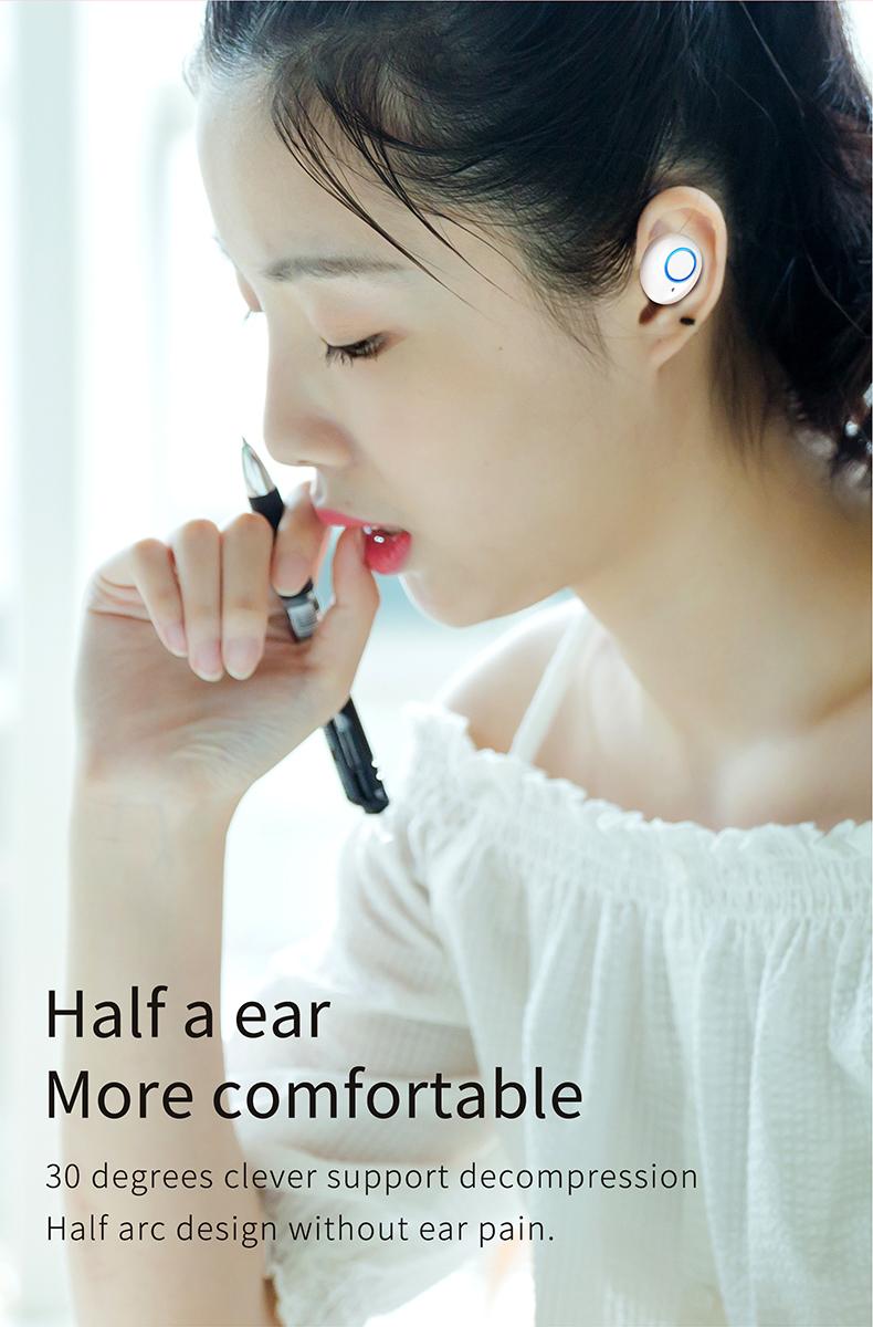 TWS-K10 Binaural Wireless Bluetooth Headset V5.0 Mini In-ear Noise Canceling Sports Headset 5