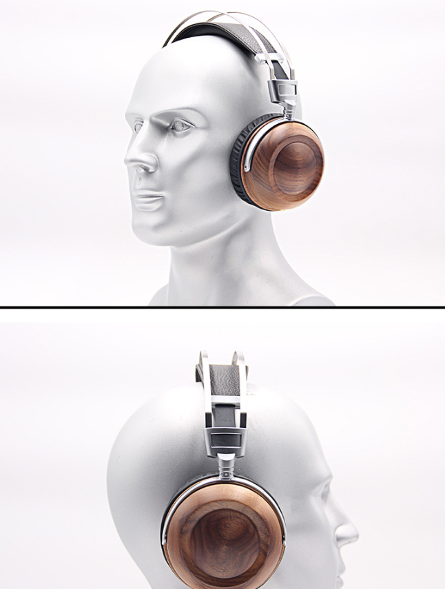 WHP860W High-end Headphones Head-mounted HIFI Walnut Alloy High-fidelity Mobile Computer Headset 0