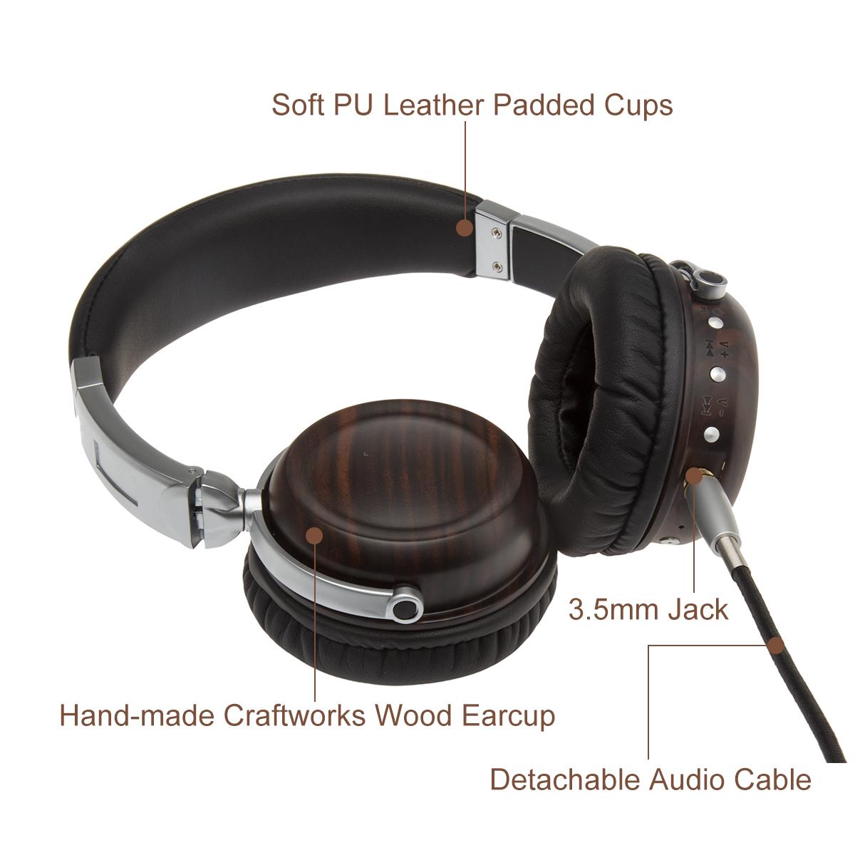 2020 Multifunctional Professional HIFI Music Wooden Headset Alloy High-fidelity Bluetooth Headset 0