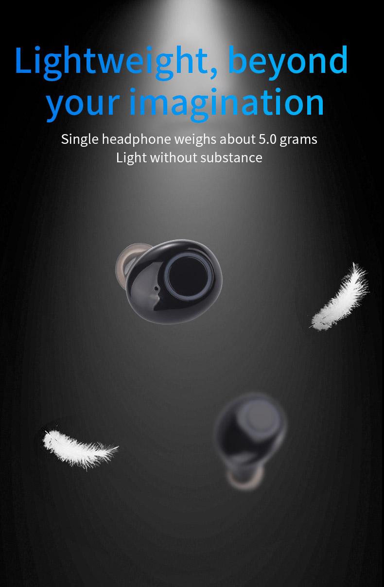 2020 New 5.0 Waterproof Bluetooth Headset TWS Wireless Automatic Power-on Dual Call Tws Headset 9