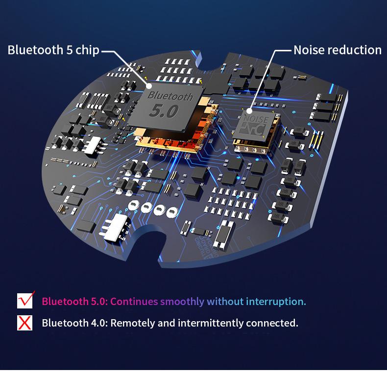 New Touch K12 Wireless Binaural 5.0 Sports Mini In-ear Noise Reduction Bluetooth Headset 11