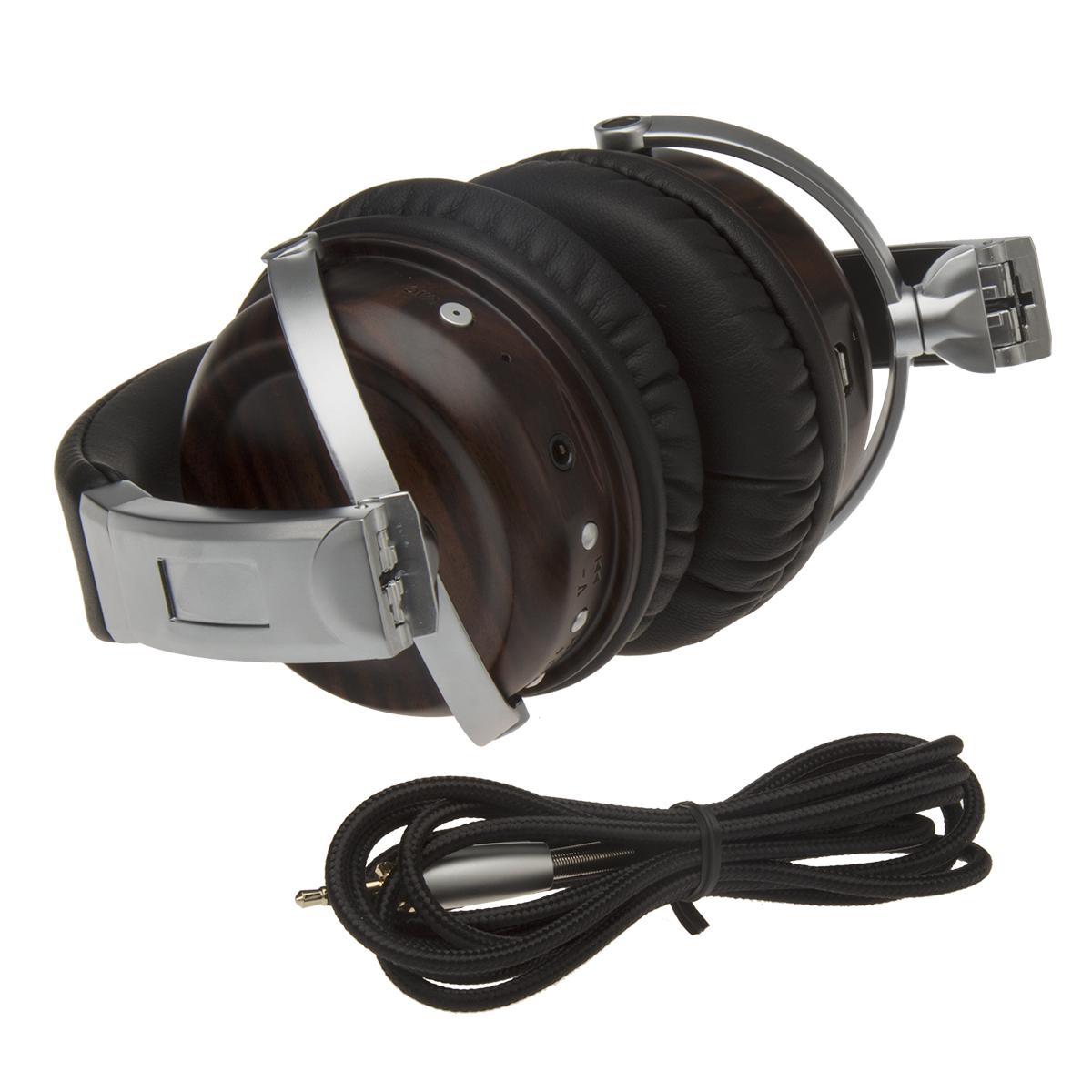 2020 Multifunctional Professional HIFI Music Wooden Headset Alloy High-fidelity Bluetooth Headset 2