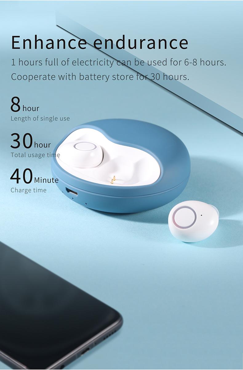 TWS-K10 Binaural Wireless Bluetooth Headset V5.0 Mini In-ear Noise Canceling Sports Headset 8