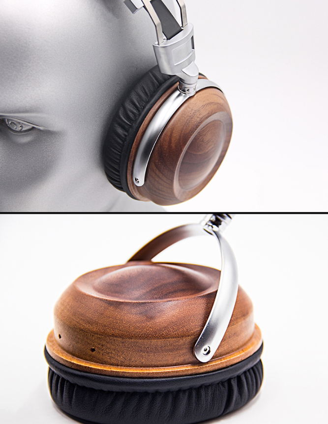 WHP860W High-end Headphones Head-mounted HIFI Walnut Alloy High-fidelity Mobile Computer Headset 1