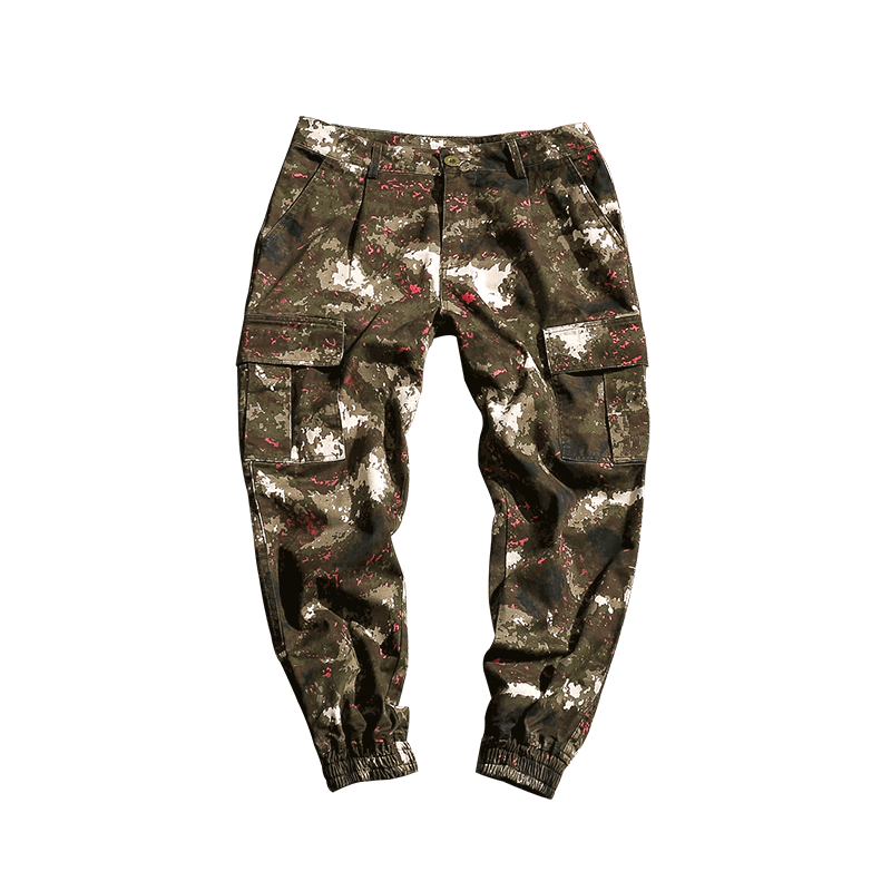2020 Simple and comfortable New Style Fashion Camouflage Button Casual Trousers For Man 3