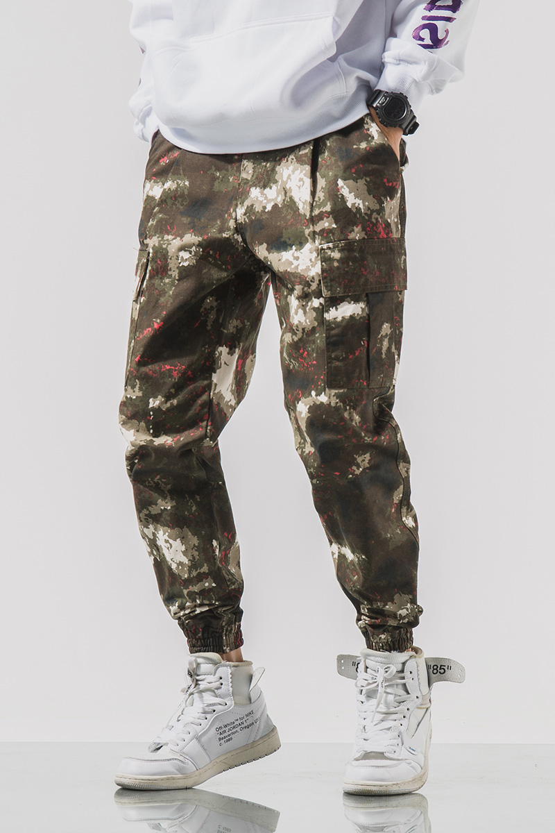 2020 Simple and comfortable New Style Fashion Camouflage Button Casual Trousers For Man 4