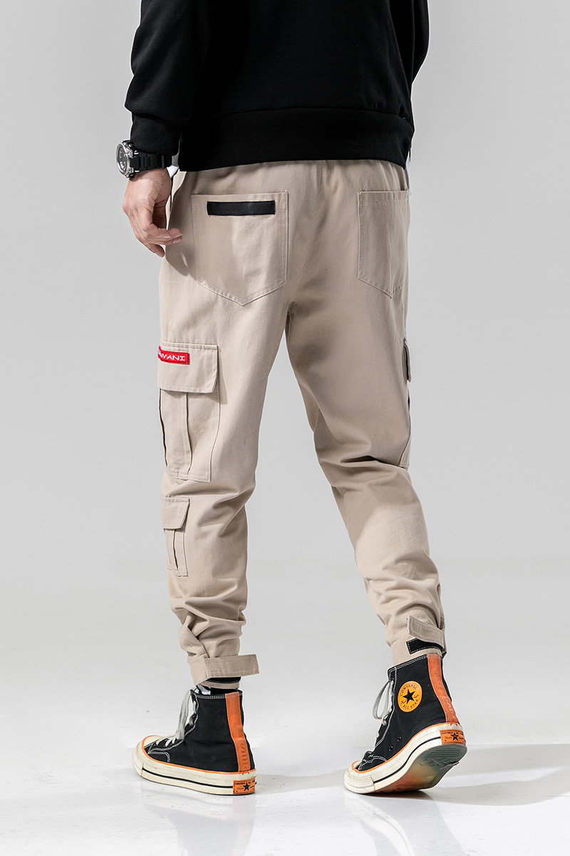 2020 Simple And Comfortable Fashion Camouflage Button Casual Trousers Straight-Leg Pants For Man 5